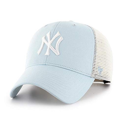47Brand New York Yankees MLB Cap Verstellbar Baseball Kappe Damen Hellblau - One-Size