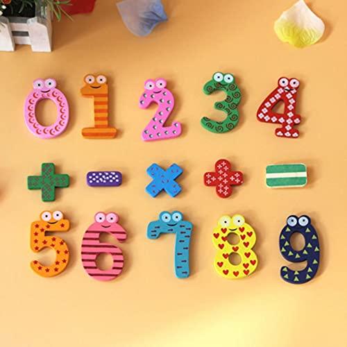 HUAYING Imán de nevera de madera 26 Alfabeto Inteligencia Desarrollo Juguete Niños Niños Etiqueta Magnética Aula Oficina Whiteboard Gadget