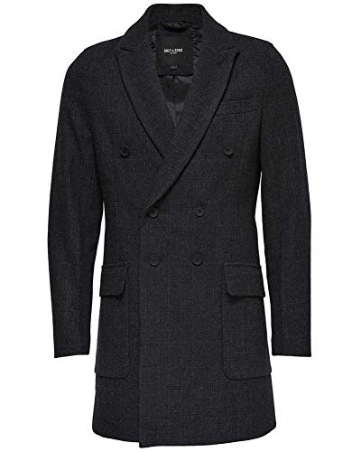 ONLY & SONS Herren onsSVEND Coat Mantel, Grau (Dark Grey Melange), Large