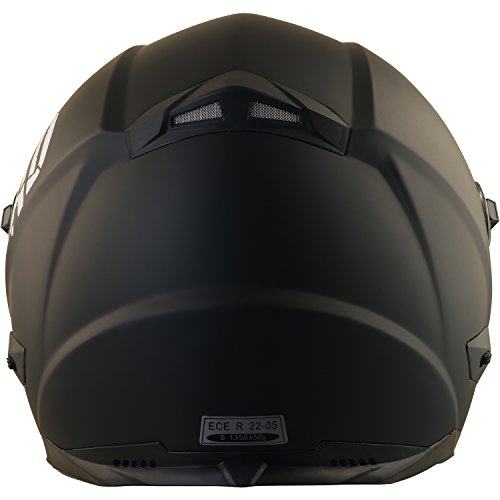 Broken Head BeProud Helm | Motorradhelm Set inkl. Schwarzem Visier – Integralhelm – Karthelm – Nakedbike schwarz-matt S (55-56 cm) - 5