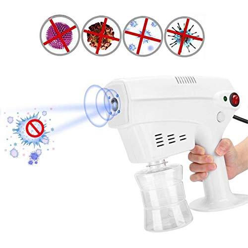 QJXF Désinfection Nano Pistolet Électrique Pulvérisateur avec Bleu Clair, Intelligent Atomiseur ULV Pulvérisation Brumiseur pour La Beauté, Coiffure, Bureau, Intérieur Et Extérieur - 260Ml