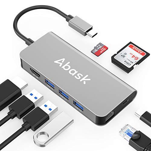 USB C Hub Abask 8 in 1 Type C Hub Adapter Now $17.99 (Was $35.99)
