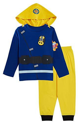 Fireman Sam Jungen Schlafanzug, Motiv Feuerwehrmann Sam, für Kinder, mit langen Armen und Beinen Gr. 18-24 Monate, blau