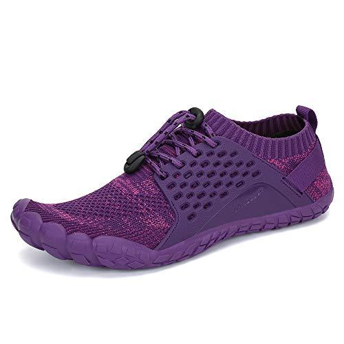 Yopaseeur Damen Minimalistische Trail Running Barfußschuhe Wide Toe Box GMY Workout Schuhe