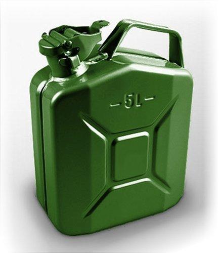 5 Litros Verde Bidón para Combustible Gasolina Diesel Etc