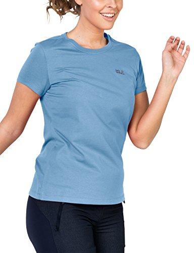 Jack Wolfskin Damen Essential T-Shirt, cool Water, XS