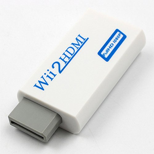 BEESCLOVER Full HD HDTV 720P 1080P Wii to HDMI Video Converter Adaptor HDMI HDMI Negro Adaptador de Cable