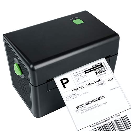 Etikettendrucker Thermodrucker Desktop Label Printer USB-Direkt Etikettiermaschinen Hochgeschwindigkeits kompatibel mit 4 x 6 Versandetiketten, Ebay, Etsy, Shopify, Amazon Barcode