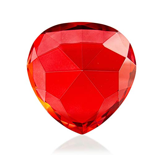 Piquaboo Crystal Glass Red Heart Gift Ornament Gift Boxed