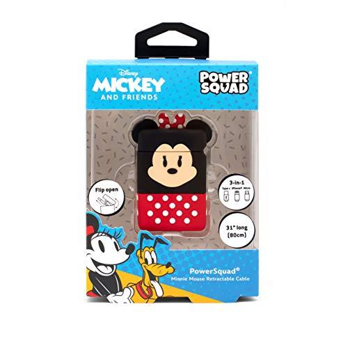 Disney Minnie Mouse Cute 3D 3 en 1 USB retráctil Cable de...