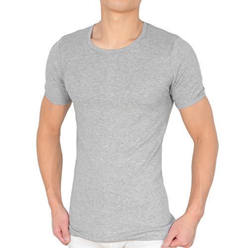 Unterhemd Herren O-Neck (M, 4 x Grau)