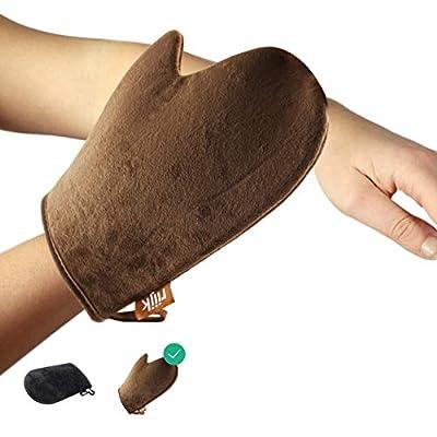 Selbstbräuner Handschuh für Bräunungscreme