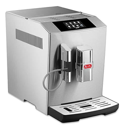 Acopino Modena ONE Touch Display Kaffeevollautomat edelstahl (Edelstahlgehäuse, Farb-Touch-Display, intelligentes Fehlererkennungssystem, programmierbaren Getränkeeinstellungen