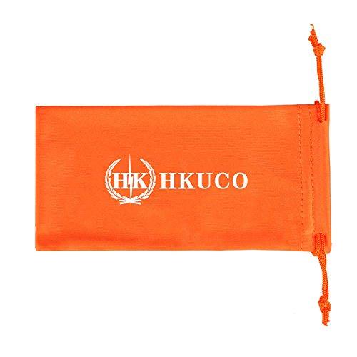 HKUCO For Oakley Flak Jacket XLJ Red/Black Polarized Replacement Lenses And Black Earsocks Rubber Kit