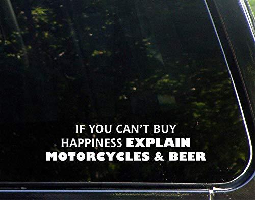 Als u niet kunt kopen Geluk Uitleggen Motorfietsen En Bier Vinyl Die Gesneden Decal Bumper Sticker Voor Windows, Auto's, Vrachtwagens, Laptops, Etc.