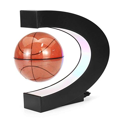 LINMAN Globo LED Light Globe 110 V C-Forma C Flotante Maglev Basket Ball Ball Office Decoración Regalo para Fans de Baloncesto Globo