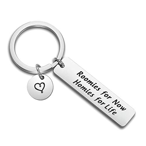 PLITI Roomie Keychain Roomies for Now Homies for Life College Graduation Gifts Best Friend College Roommate Gifts