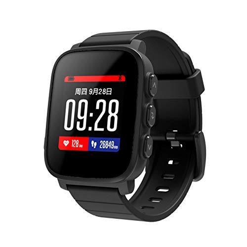 PRIXTON Smartwatch SWB31 - Slimme waterdichte horloge met hartslagmonitor en 50 watchfaces, kleur zwart