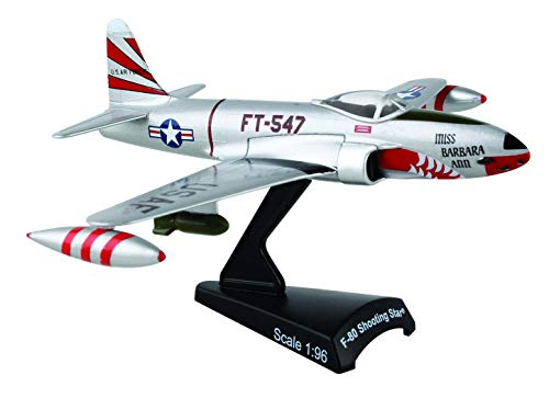 Daron Postage Stamp F-80 Shooting Star Evil Eye Fleagle / Miss Barbara Ann 1/96 Scale, Silver