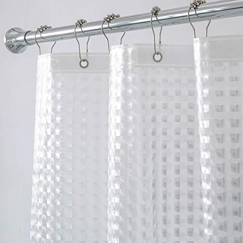 Aimjerry Strapazierfähiges 3D-Duschvorhang-Set für Badezimmer mit 12 Kunststoff-Haken, wasserdicht, 183 x 188 cm