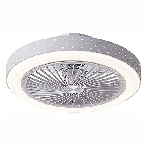 JZlamp Velocidad de Viento Ajustable y Temperatura de Color LED Ventilador de Techo con iluminación, lámpara de Ventilador de Hierro jornada dimmable con Control Remoto, para Dormitorio