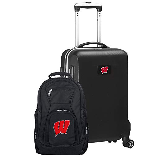 Buy Discount NCAA Wisconsin Badgers Deluxe 2-Piece Backpack & Carry-On Set, Black