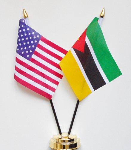 1000 Flags Les États-Unis d'Amérique et l'amitié du Mozambique Drapeau de table écran 25 cm (25,4 cm)