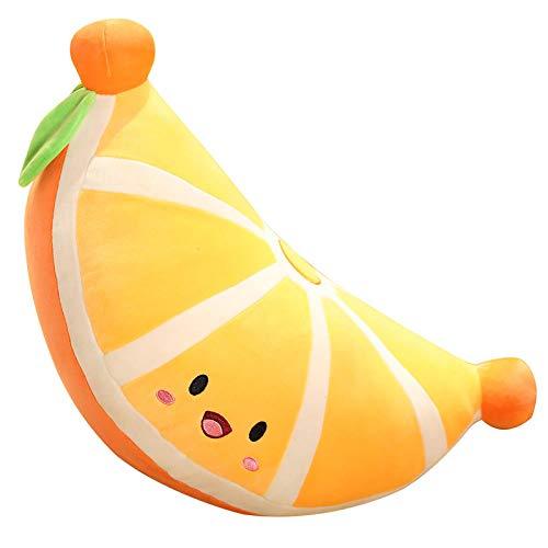 VGSD Almohada De Pastel De Naranja Creativa De Juguete De Felpa, Cojín De Sofá Fresco Relleno Suave, Dormitorio De Niña Sala De Estar Joyería Suave 48 Cm