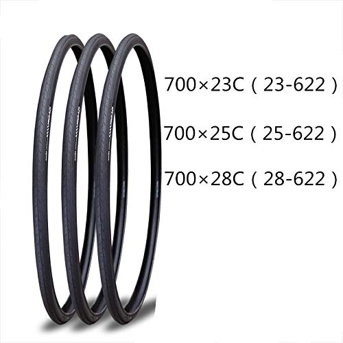 TLBBJ Bicycle Tire Neumático de la Bicicleta 1pcs 700 * 23C / 25C / 28C de Carreras Bicicletas 700x23C (23-622) / 700X25C (25-622) / 700X28C (28-622) Durable (Color : 700X28C)
