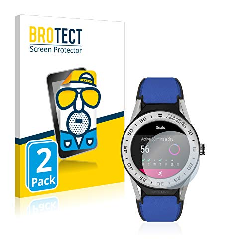 BROTECT 2X Entspiegelungs-Schutzfolie kompatibel mit Tag Heuer Connected Modular 41 Displayschutz-Folie Matt, Anti-Reflex, Anti-Fingerprint