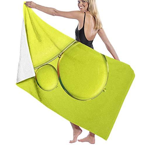Toalla de baño, 80 x 130 cm, simplemente lima, toallas de baño superabsorbentes, para gimnasio, playa, spa, spa, etc