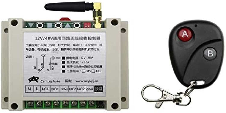 DC12V 24V 36V 48V 2 CH RF Wireless Remote Control Switch System 1 Receiver & 1 Transmitter appliances lamp Light