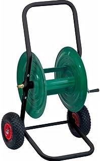 Carro portamanguera de metal, 80m–Carro con ruedas neumáticas–de tipo pesado