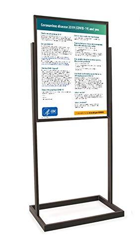 Coronavirus (Covid-19) CDC Workplace Signage -'Coronavirus Disease 2019' - Sign and Stand (Black)