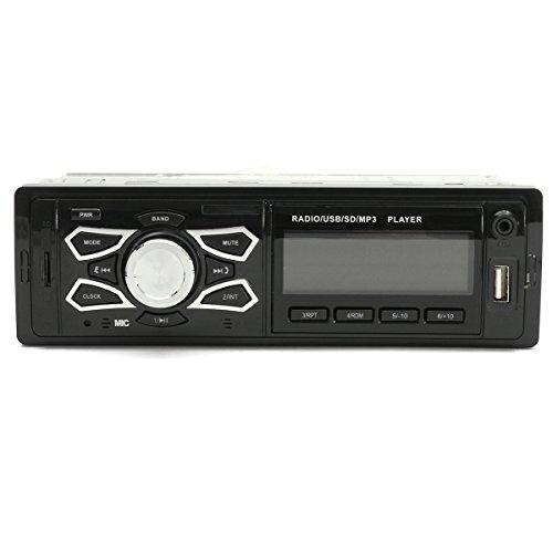 C-FUNN Voiture Stéréo Audio 1 Din en Dash FM Aux Entrée Récepteur SD USB Mp3 Radio avec Fonction Bluetooth