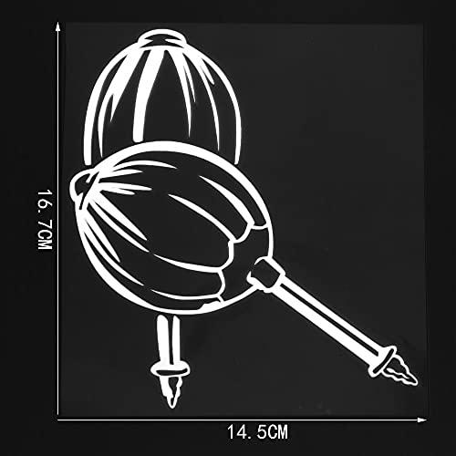 A/X Sticker de Carro 16,7 CM ¡Á14,5 CM Pegatinas Creativas Personalizadas para Coche, Armas de Ataque agresivas, Martillo, Vinilo, decoración del Cuerpo, calcomanías 1C-0108