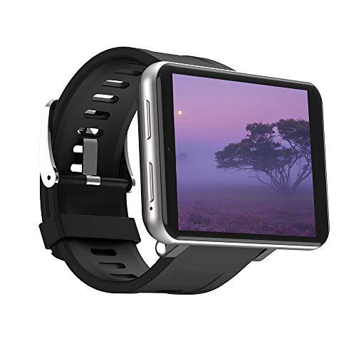 4G Reloj Inteligente Hombres Mujeres, 2700mah 2,8 Pulgadas Pantalla Táctil Completa GPS Reloj Deportivo Monitor Frecuencia Cardíaca Monitor Sueño Reloj Deportivo con Sim Ranura (3+32GB,Sliver)