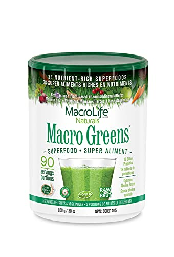 MacroLife Naturals Macro Greens Powder - 38 Superfood Mineral, Enzyme,...