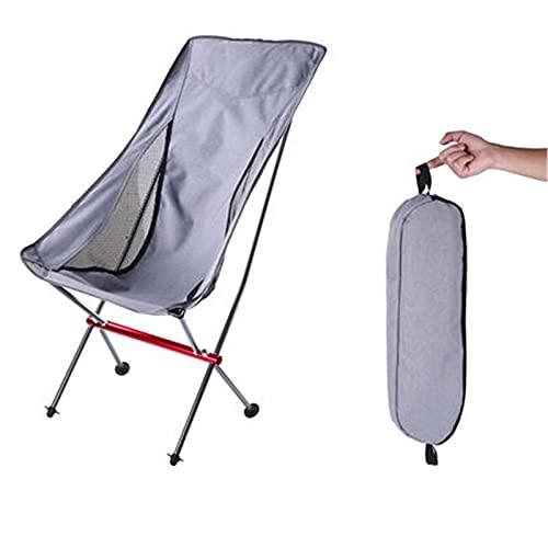 fácil de cargar Silla para acampar Silla de luna plegable al aire libre Portátil Camping respaldado Placa plegable Silla de plegado Aumento audaz Artefacto Fácil de guardar (Color: Negro, Tamaño: 67x3