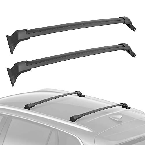 Qwldmj Car Roof Rack OE Style Bolt-On Top Rail Roof Rack Cross Bar Luggage Carrier Replacement For Buick Envision 2016-2018