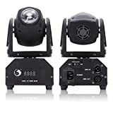 U'King 50W DMX512 Lichteffekt Mini Moving Head LED Pinspot Licht Stadiums Effekt 14CH-Bühnenlicht und Vier Kontrollmodus für Disco,Geburtstag party,Halloween,Hochzeit,Kinder Party,Weihnachten