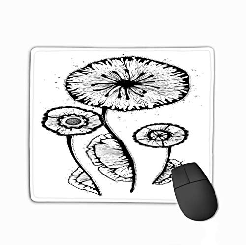 Mouse Pad Vintage Flower Hand Drawn Vintage Flower Hand Drawn Cases Design Gift Box Rectangle Rubber Mousepad 11.81 X 9.84 Inch