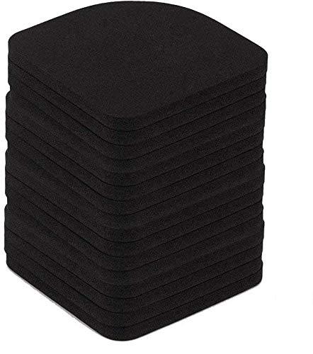 INTVN Almohadillas Antivibraciones Colchonetas Antideslizantes Silencioso pies almohadillas de goma universal para lavadora nevera Home Appliance, 16 Piezas