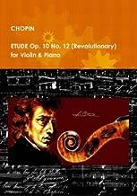 ETUDE Op. 10 No. 12 (Revolutionary) for Violin & Piano.Sheet Music.
