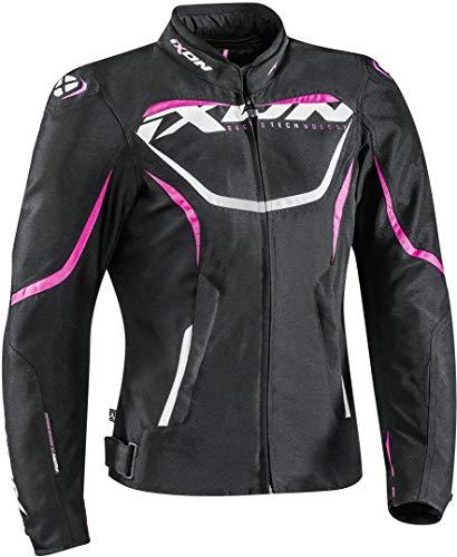 Ixon Chaqueta moto Sprinter Lady Negro/FUSHIA, Negro/Fuchsia, XL