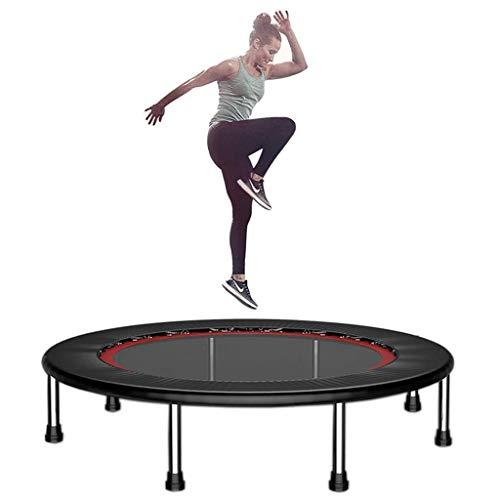 LY Fitness Trampoline voor Volwassene, Indoor Folding Home Rebounder, Cardio Oefening, Veilig geduwd bounce, Langdurige Premium Bungees