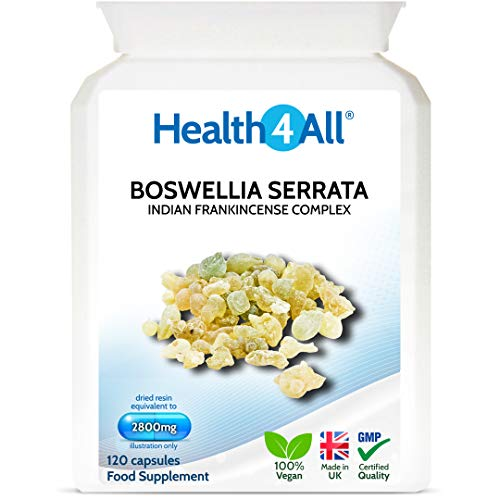 Boswellia Serrata 2800mg 120 Capsules (V) Strong Anti-inflammatory OA & Joint Support. Vegan. Made by Health4All