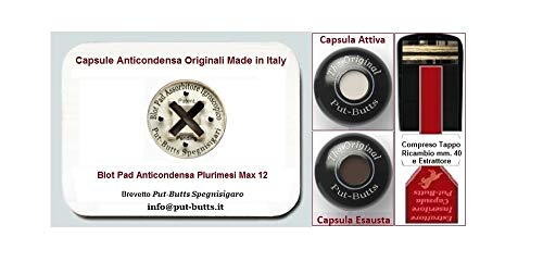 Spegnisigaro per Toscano Put - Butts Spegnigaro Made in Italy. Dal Produttore la Nuova Capsula Anticondensa Antiodori Blot Pad Plurimesi Max 12.
