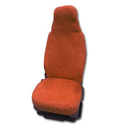 Universal Schonbezug aus Frottee Farbe: Terracotta für Pilotsitze und Wohnmobile