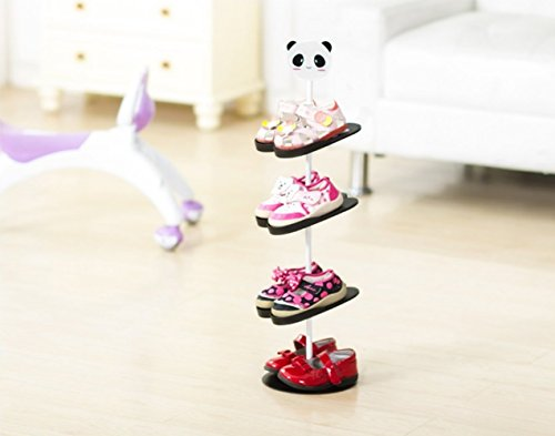 Kinder Schuhregal,GUOYI®Kreativ Drehen Schuhregal Aufbewahrungsregal Dreidimensional Karikatur Kinder Schuhregal(Panda)